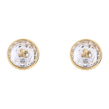 Kinley Crystal Button Earrings - Gold