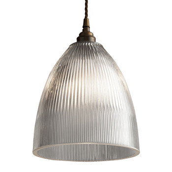 Elongated Prismatic Pendant Light