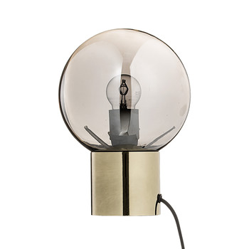 Glass Table Lamp with Black Cord