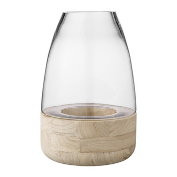 Lantern with Wooden Base