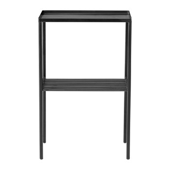 Grid Side Table - Matt Black