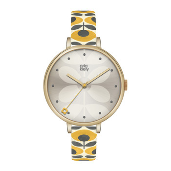 Ivy Floral Strap Watch - Yellow