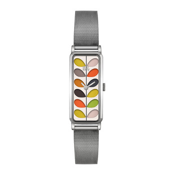 Stem Mesh Strap Watch - Silver