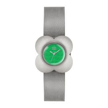 Ladies Poppy Mesh Strap Watch - Silver/Green