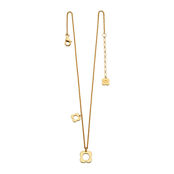 Four Pointed Flower Necklace - Gold