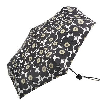 Mini Unikko Mini Manual Umbrella - Black/White