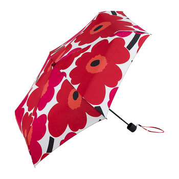Pieni Unikko Mini Manual Umbrella - White/Red
