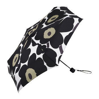 Pieni Unikko Mini Manual Umbrella - White/Black/Green