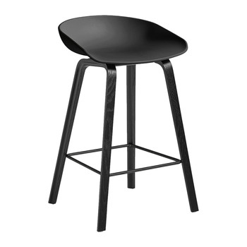 Oak Stool - Black