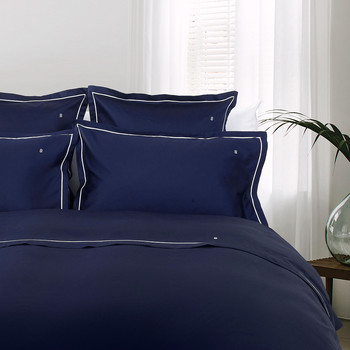 100% Cotton Sateen Duvet Cover - Navy