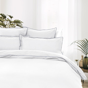 100% Cotton Percale Duvet Cover - White