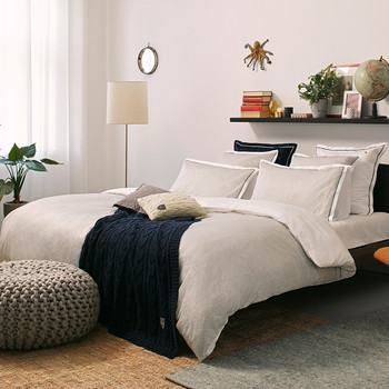 Chevron Duvet Cover - Gray