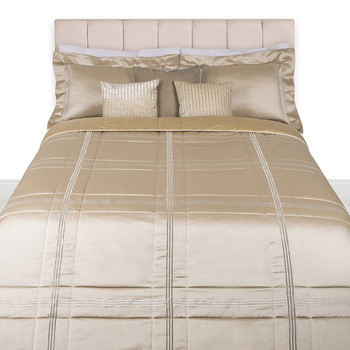 Three Lines Light Bedspread - Bronze