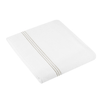 Three Lines Bath Sheet - White/Copper