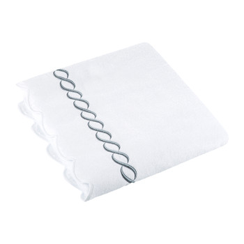 Chain Appliqué Bath Sheet - White/Platinum