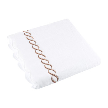 Chain Appliqué Bath Sheet - White/Copper