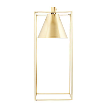 Kubix Table Lamp - Brass/White
