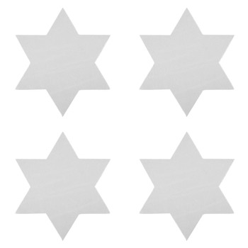 Star Coasters - Set of 4 - Silver