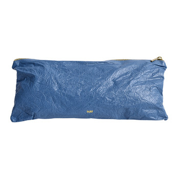 Packing Essentials Rectangular Medium Zip Bag - Dusty Blue