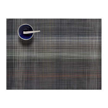 Plaid Rectangle Placemat - Gray