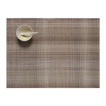 Plaid Rectangle Placemat - Tan