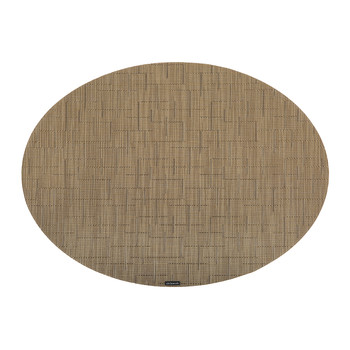 Bamboo Oval Placemat - Amber