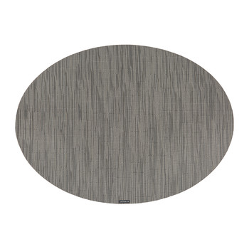 Bamboo Oval Placemat - Gray Flannel