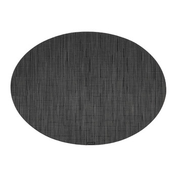 Bamboo Oval Placemat - Smoke