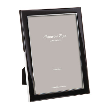 Black Enamel Photo Frame