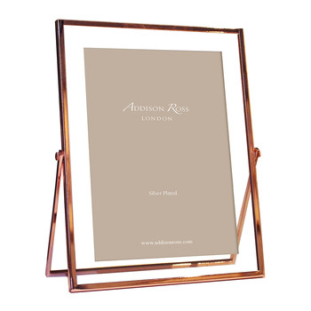 Rose Gold & Glass Photo Frame