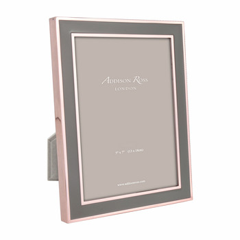 Rose Gold & Taupe Photo Frame - 5x7""