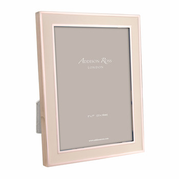 Rose Gold & Pink Enamel Photo Frame - 5x7""