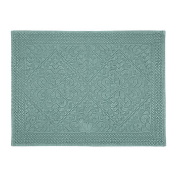Enzo Stonewashed Bath Mat - Green-Gray