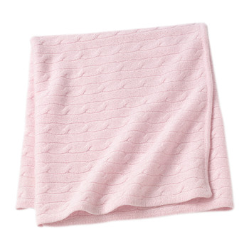 Angel Cable Knit Baby Throw - Pink