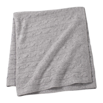Angel Cable Knit Baby Throw - Gray