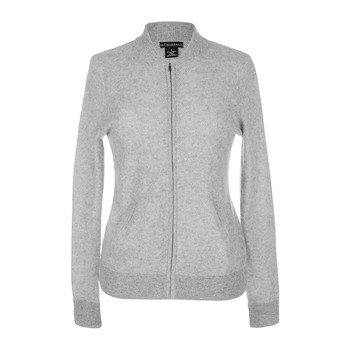 Women's Texture Zip Jacket - Gray