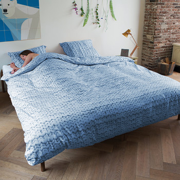 Twirre Duvet Set - Blue - Double