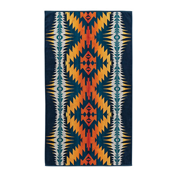 Oversized Jacquard Beach Towel - Night Dance