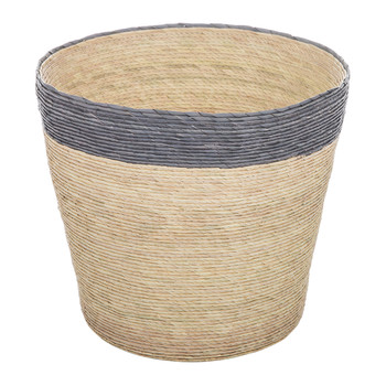 Stripe Waste Basket - Navy