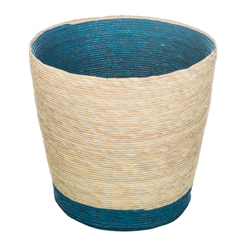 Stripe Waste Basket - Aqua
