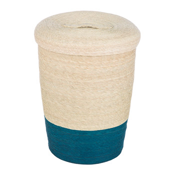 Stripe Laundry Hamper - Aqua
