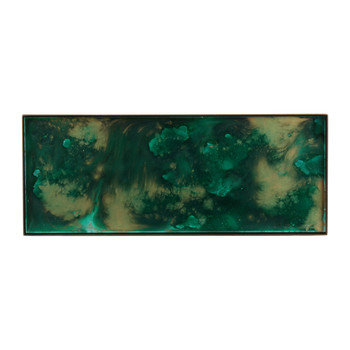 Malachite Organic Glass Tray