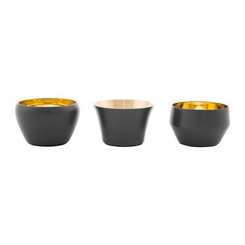 Kin Tealight Holders - Set of 3 - Mole Gray