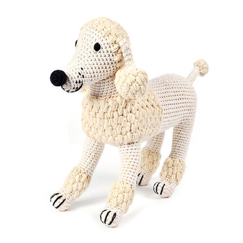 Crochet Poodle - Natural
