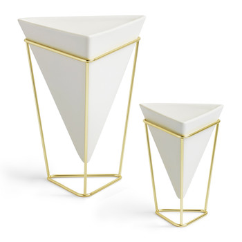 Trigg Planter Set of 2 - Nickel/Brass