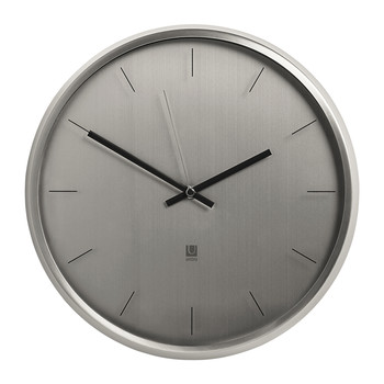 Meta Wall Clock - Nickel