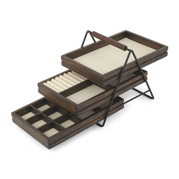 Terrace Jewelry Tray - Black/Walnut