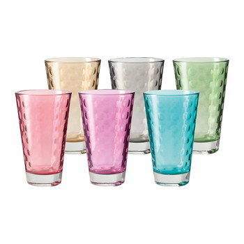 Optic Long Tumbler - Assorted - Set of 6