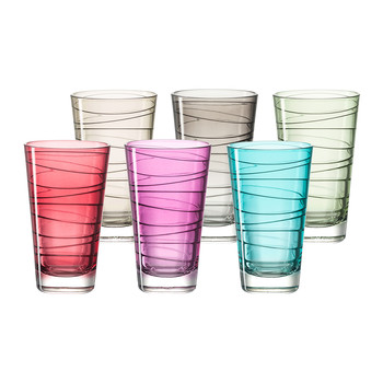 Vario Long Tumbler - Assorted - Set of 6