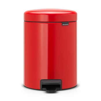 NewIcon Pedal Bin - 5 Litres - Passion Red
